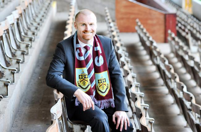 Sean Dyche as his unveiling in October 2012