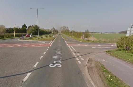 The junction of A565 Southport New Road and Moss Hey Lane (Picture: Google Maps)