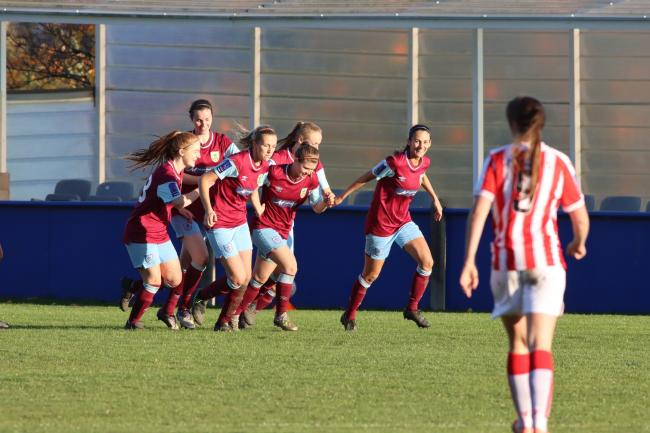 Burnley Women celebrate goal