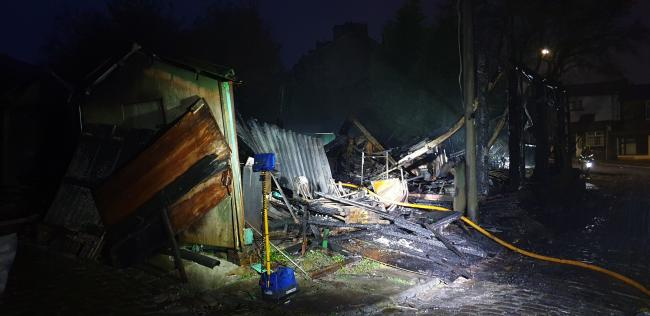 Teenage boy arrested on suspicion of arson after fire breaks out in garage