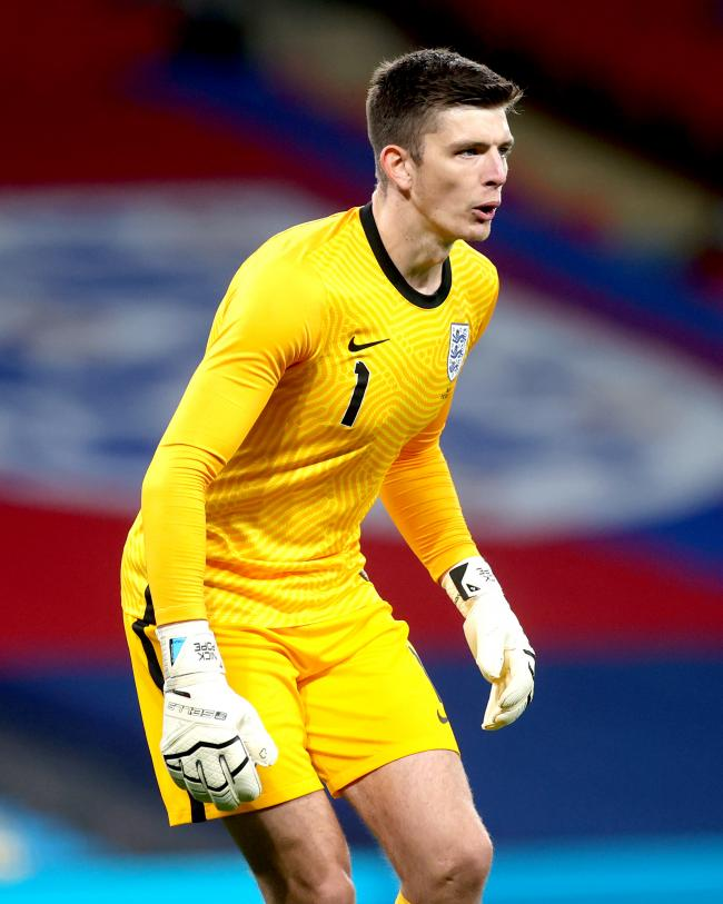 Burnley goalkeeper Nick Pope during last month's England friendly with Wales at Wembley Stadium