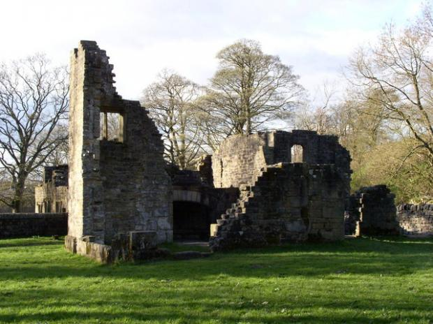 Lancashire Telegraph: The remains of Wycoller Hall