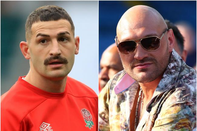 Jonny May and Tyson Fury