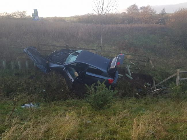 Drug-driver in lucky escape after M6 crash