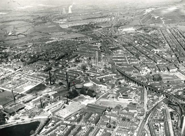 Accrington from the air, 1957