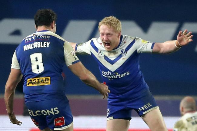 James Graham celebrate winning the Betfred Super League Grand Final