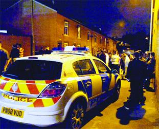 TRIAL: Percival Street on the night of the arrests