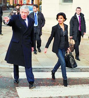VIEWS: MP Jack Straw shows Ms Dati around the town centre