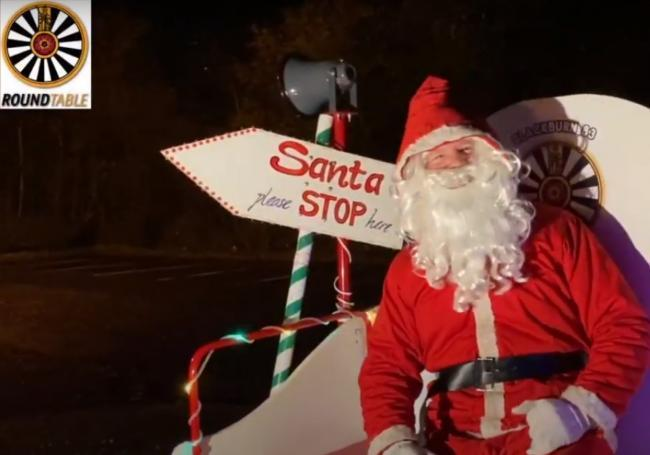 Santa will be riding through the Streets of Blackburn through December