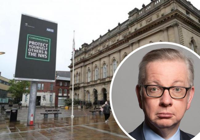 Michael Gove has not ruled out more of the country being placed under the highest level of restrictions