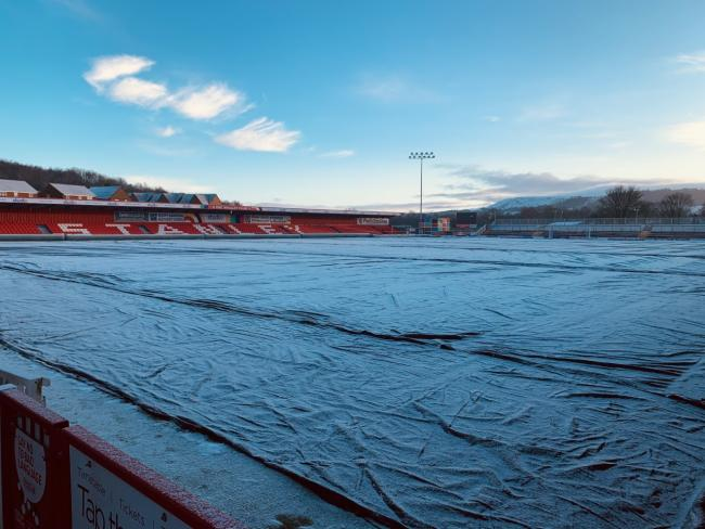 Accrington Stanley will have a pitch inspection today