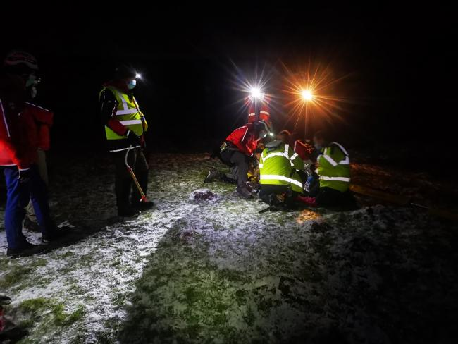 Mountain Rescue Team  called to assist woman injured whilst sledging