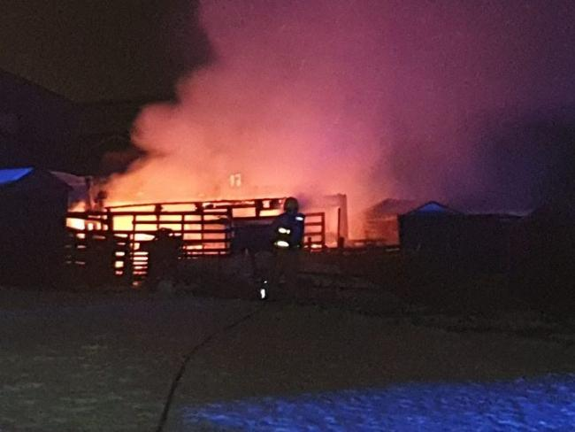 Fire: The blaze occured at an allotment in Hyndburn