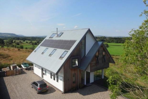 Lancashire Telegraph: The eco home is on the market for £695,000 (Photo: Zoopla, Honeywell Estate Agents)