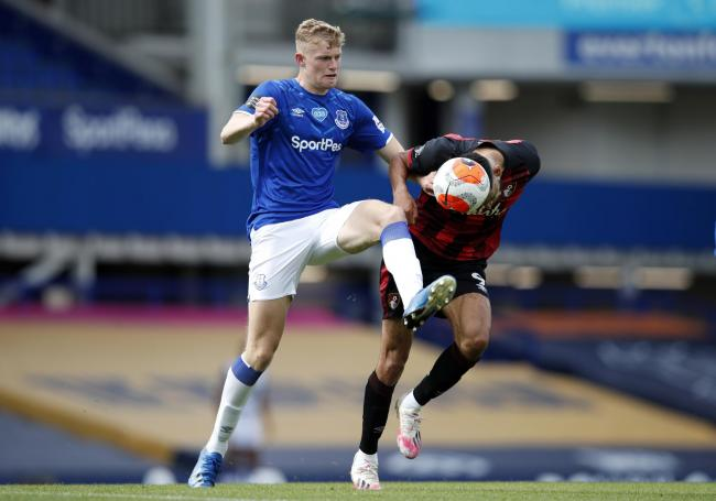 Jarrad Branthwaite played four times for Everton in the Premier League last season