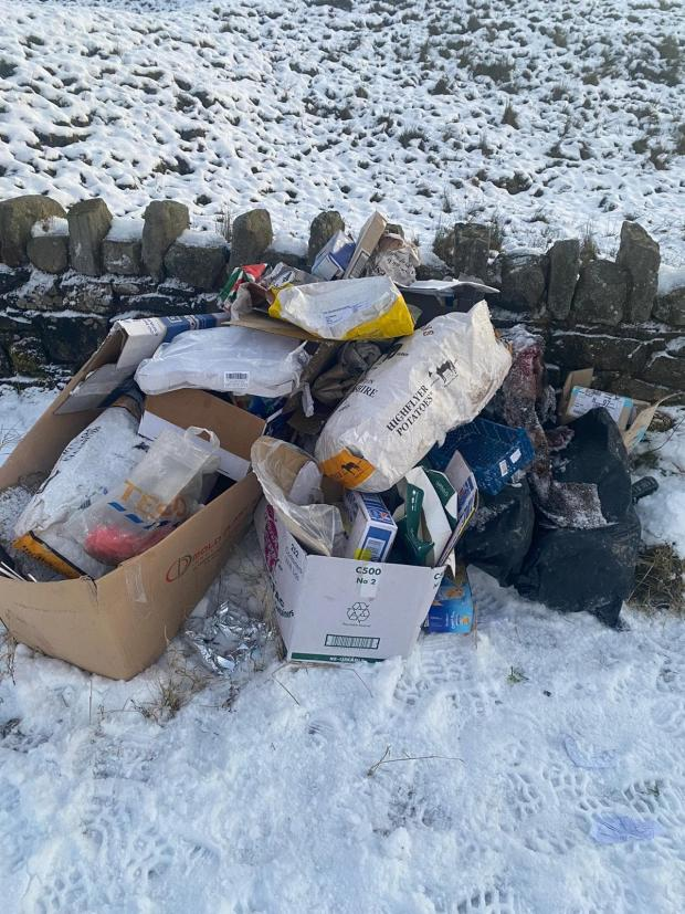 Lancashire Telegraph: The fly-tip on the Long Causeway in Cliviger