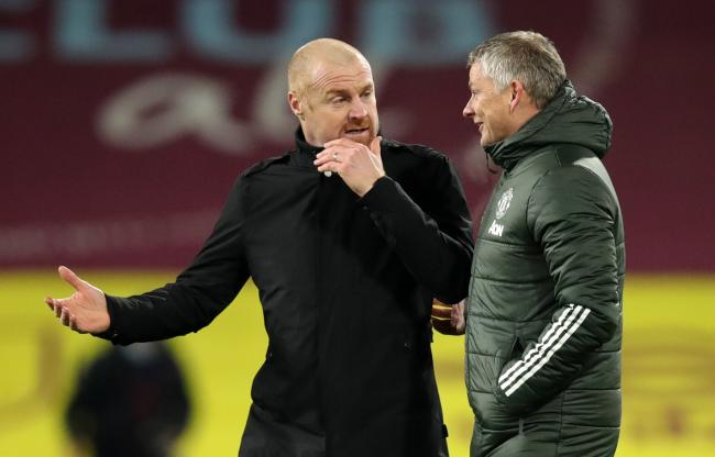 Sean Dyche with his Manchester United counterpart Ole