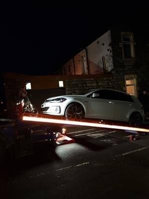 Seized: Three cars were taken off the road in Hyndburn