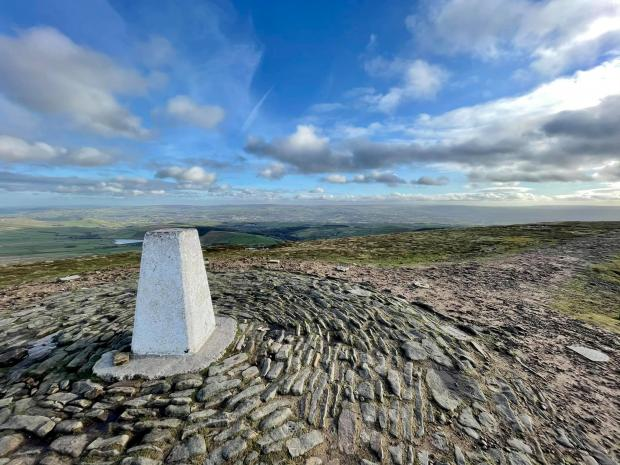 Lancashire Telegraph: Pendle Hill trig point by Neil Barker