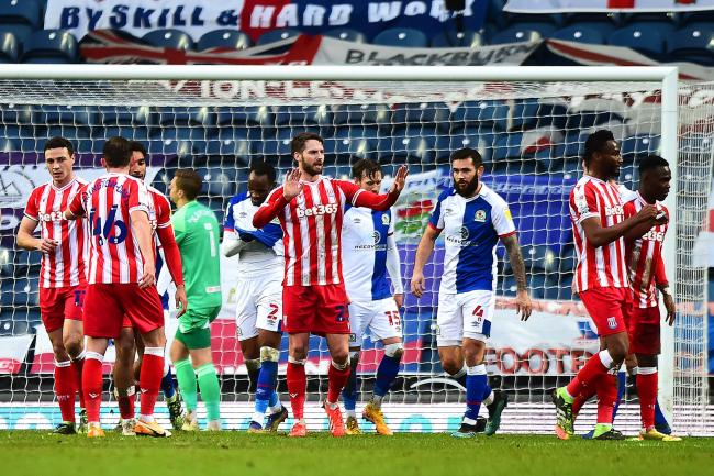 Rovers fell behind to Nick Powell's header in the first half against Stoke City