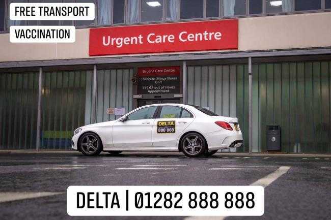 Delta Taxis will be offering the elderly and vulnerable a free journey to and from vaccination centres