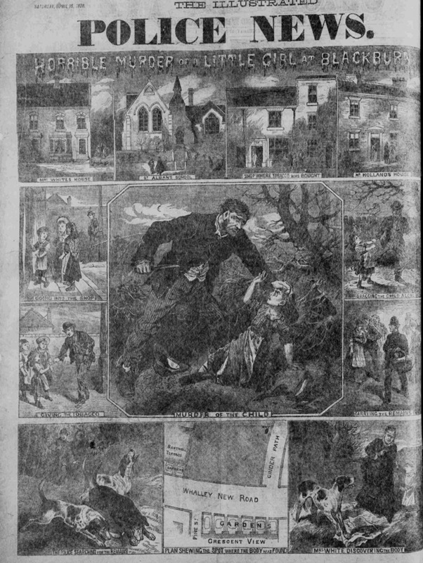 The Illustrated Police News 1876, featured in the Emily Holland podcast. Picture courtesy of daysofhorror.com