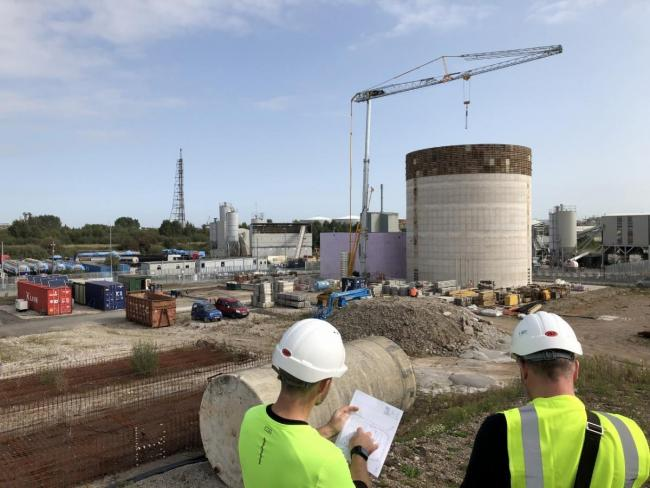 Green energy: Work is now underway on the plant in Cheshire