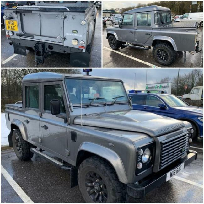 Stolen: The Land Rover was taken from a home in Grindleton