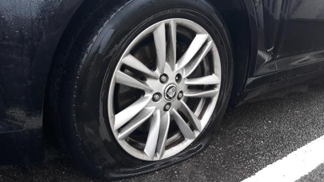 Newly-divorced man slashed ex's tyres