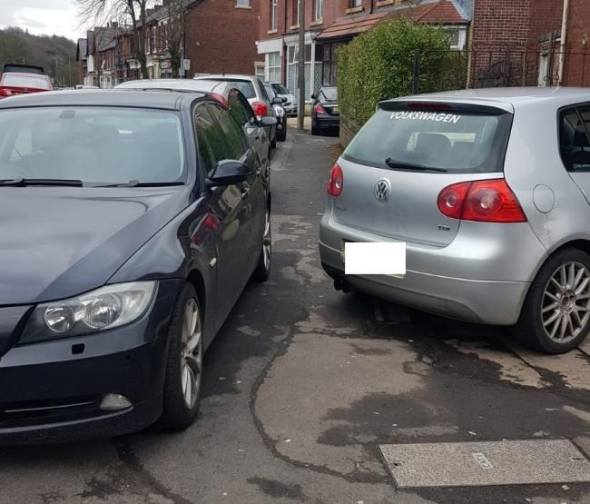 'This is ridiculous': Parents frustration as cars are parked on pavement