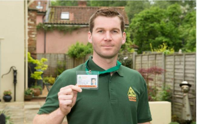 An OFTEC technician with his ID card. OFTEC is raising awareness of the types of scams taking place during lockdown