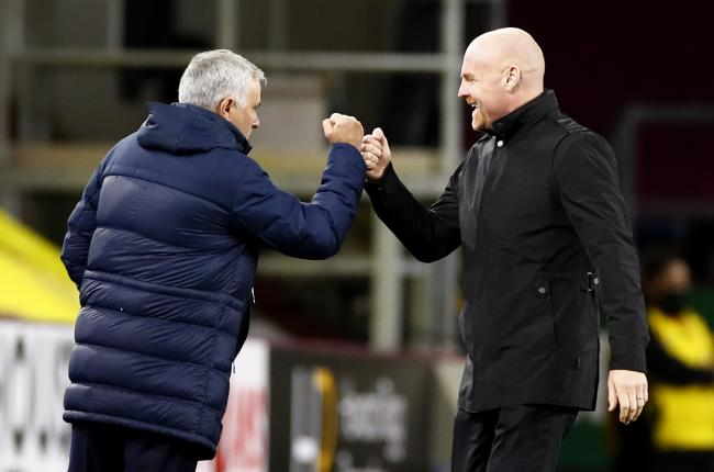 Tottenham Hotspur manager Jose Mourinho (left) greets Burnley manager Sean Dyche before the Premier League match at Turf Moor, Burnley.