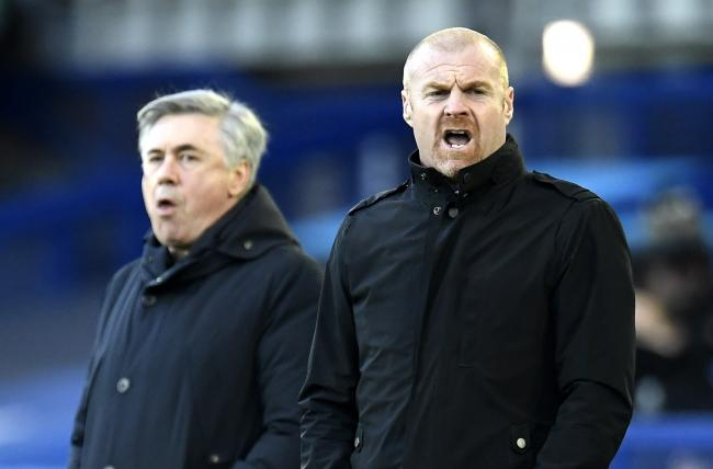 Sean Dyche at Goodison Park on Saturday evening
