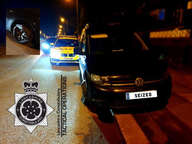 This vehicle was seized by police after being pursued on suspicion of travelling with false plates in Lancashire