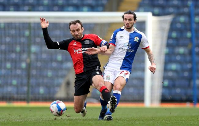 Lewis Travis hasn't started for Rovers since the 1-1 draw with Coventry City in February