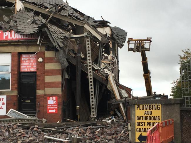 The building collapse on Accrington Street in Burnley