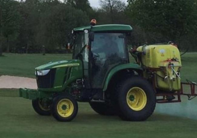 The tractor which has been stolen from Whalley Golf Club