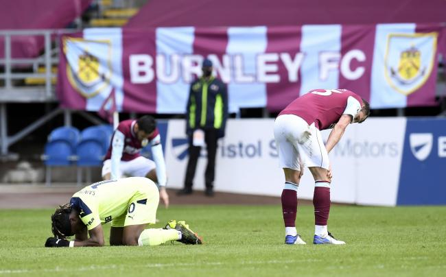 Contrasting emotions at the final whistle at Turf Moor