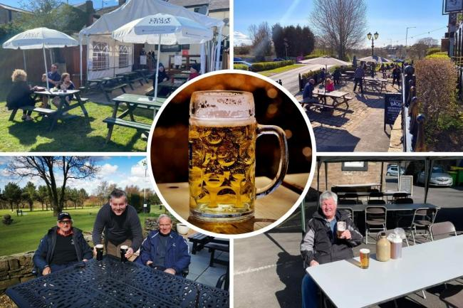 East Lancashire's pubs, cafes and restaurants share photos from opening day