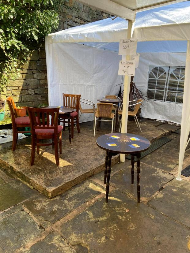 Lancashire Telegraph: The George and Dragon pub garden