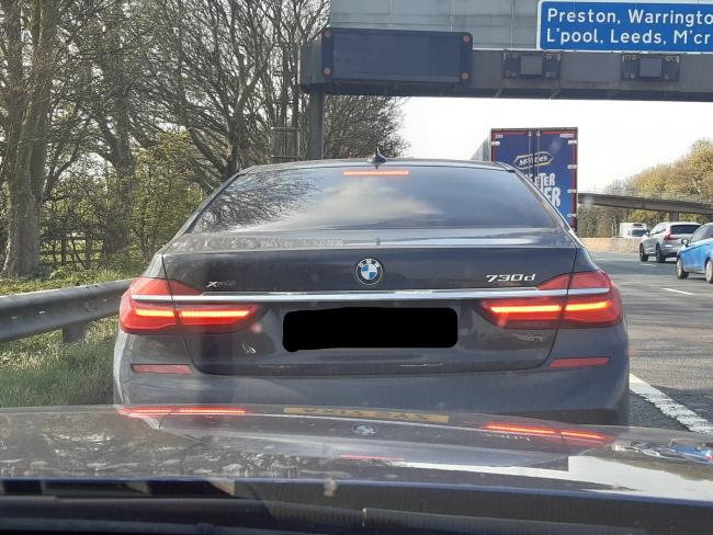 BMW driver caught on motorway travelling at ridiculous speeds of up to 140mph