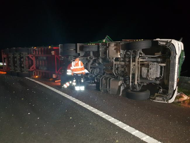 This is why the M6 was shut for several hours last night - thankfully no injuries