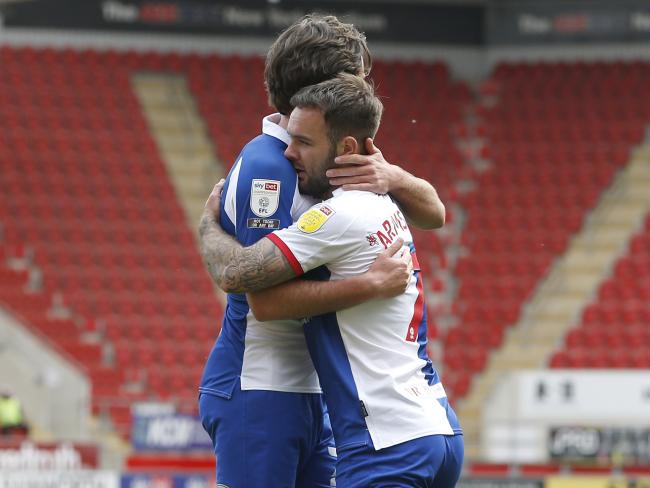 Adam Armstrong was on target for Rovers against Rotherham United