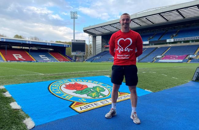 Josh Askew completed his charity challenge at Ewood Park