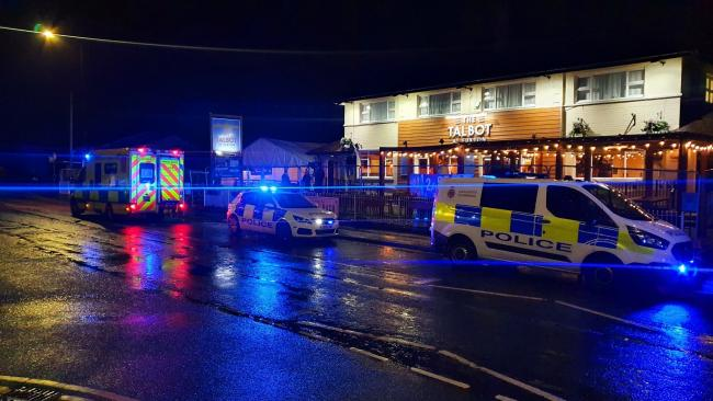 Lancashire police at The Talbot in Euxton. Photo credit: Chorley Police / Facebook