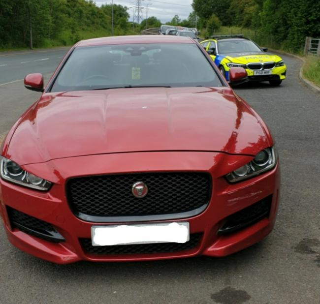The driver of the Jag blew 161 at 10am on Wednesday