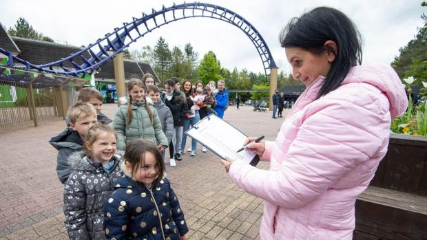 Lancashire Telegraph: The Family at Alton Towers (Jeff Spicer / PA)