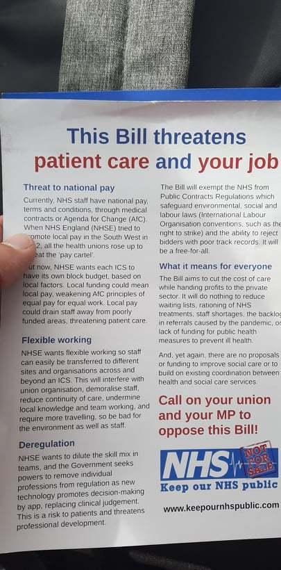 Lancashire Telegraph: Staff were striking outside Burnley Hospital on Thursday