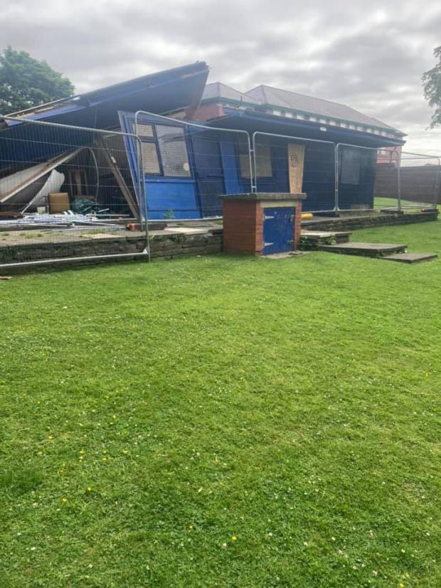 Lancashire Telegraph: The demolished ice cream hut in Lowerfold Park, Great Harwood