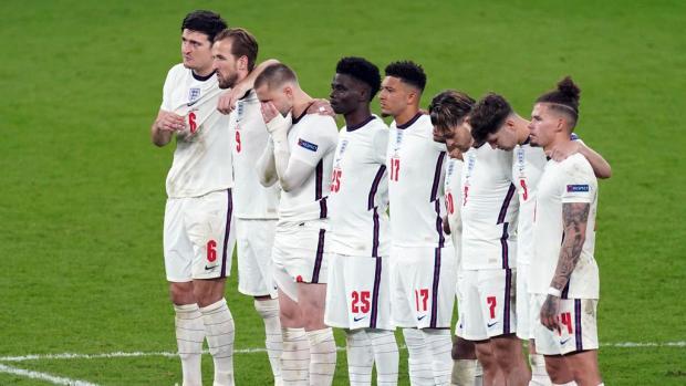 Lancashire Telegraph: The England team during Euro 2020 penalites (Mike Egerton/PA)